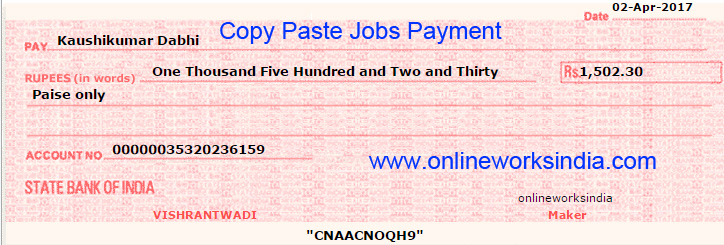 Work from home payments